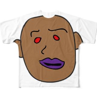真清貧会 Full graphic T-shirts