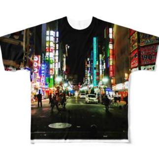 歌舞伎町 Full graphic T-shirts