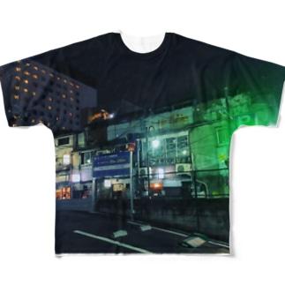 ゴールデン街 Full graphic T-shirts