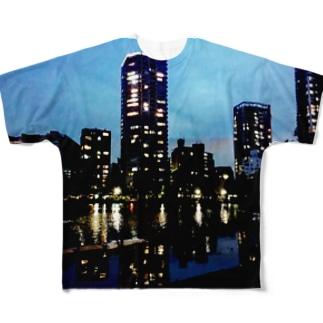 上野公園Tシャツ Full graphic T-shirts
