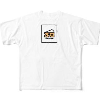 チーズ Full graphic T-shirts