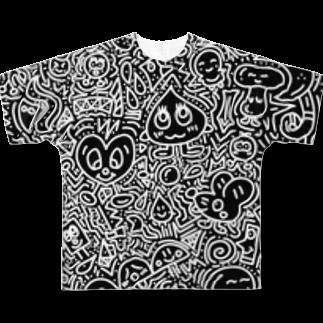 クッキーのDoodle Full graphic T-shirts
