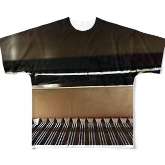 ピアノ Full graphic T-shirts