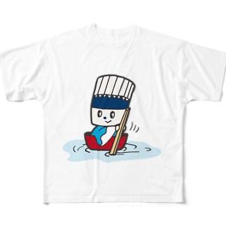 そうめん侍「どんぶらこっこ」 Full graphic T-shirts