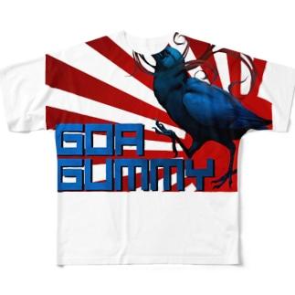 GOA GUMMYロゴ Full graphic T-shirts