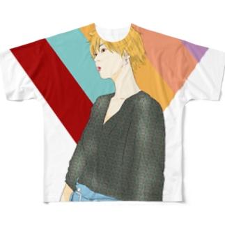 【フルグラフィック】ななみちゃん(七色) Full graphic T-shirts