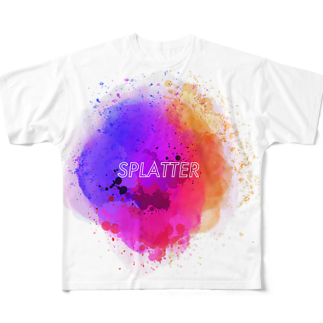 とりぷしんハウスのSPLATTER Full graphic T-shirts