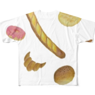 パンだぁいすき♡ Full graphic T-shirts