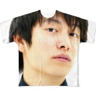 みきひとくんTシャツ(どアップ②) Full graphic T-shirts