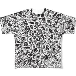 円(フルグラ) Full graphic T-shirts