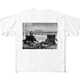 いえい白黒 Full graphic T-shirts
