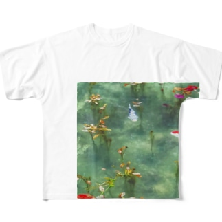 モネの池の様子 Full graphic T-shirts