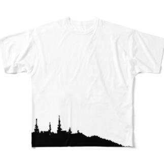 稲佐山、長崎 Full graphic T-shirts