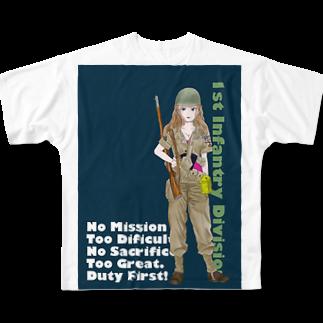 candy_combatのベティ Full graphic T-shirts