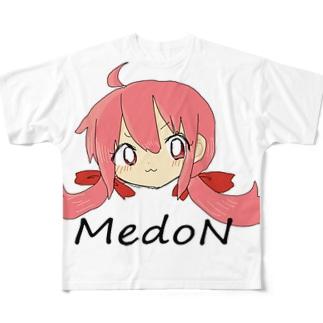 メドンドンドドン Full graphic T-shirts