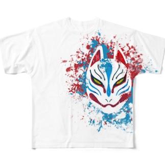 狐面splash Full graphic T-shirts