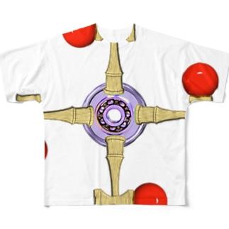 剣玉スピナー Full graphic T-shirts