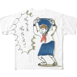 ディフェンス女子 Full graphic T-shirts