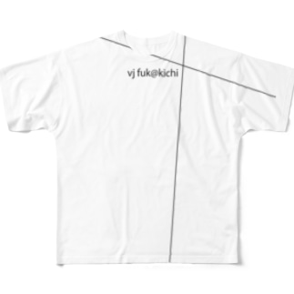 vj fuk@kichi no.00001 Full graphic T-shirts