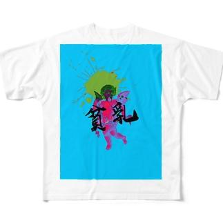 かたじけなしKATAJIKENASHI Full graphic T-shirts