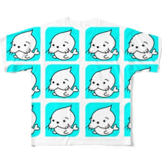 たまおいっぱい! Full graphic T-shirts