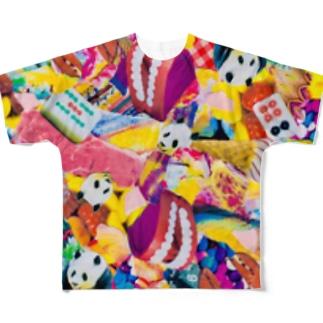 🐼🦞🍦黄ッチュ🦷🥩🀄️ Full graphic T-shirts