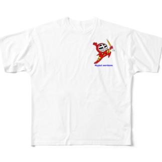 マスクド・レッド Full graphic T-shirts