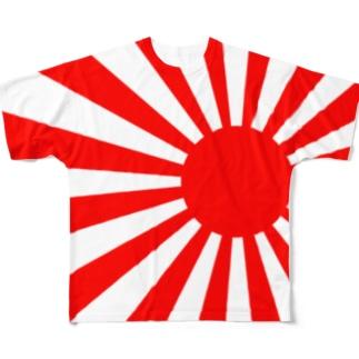 裏表両面印刷旭日旗Tシャツ Full graphic T-shirts