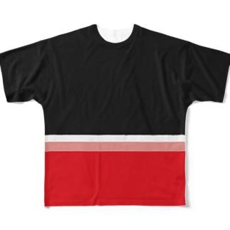 アカイチカテツ Full graphic T-shirts