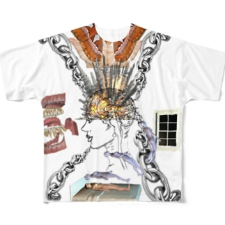 Mind爆発誘拐スリット Full graphic T-shirts