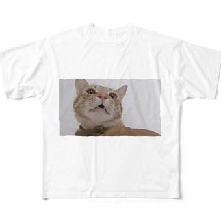 うちのねこがせかいいち Full graphic T-shirts