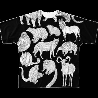megumiillustrationのEndangered Species Full graphic T-shirts