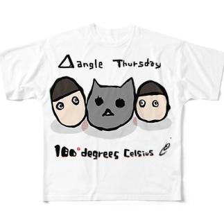 三角関係サーズデェ Full graphic T-shirts