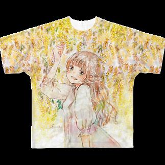 *momochy shop*のミモザ Full graphic T-shirts