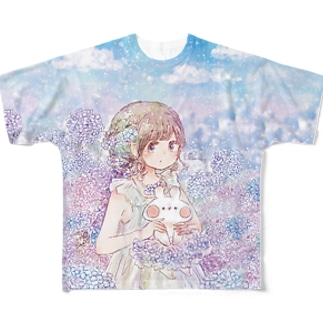 アジサイ Full graphic T-shirts