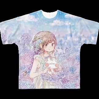 *momochy shop*のアジサイ Full graphic T-shirts