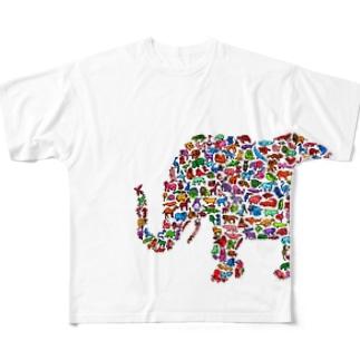 ぞうぶつえんフルグラフィックT Full graphic T-shirts