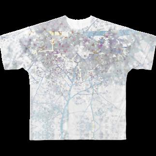 櫻田宗久の新宿からの手紙 新宿の桜 Full graphic T-shirts