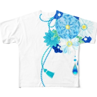花かんざし03 Full graphic T-shirts