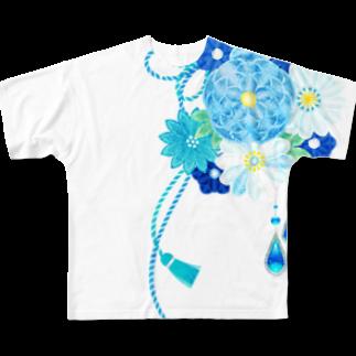 和の色彩 -wa_no_iroiro-の花かんざし03 Full graphic T-shirts