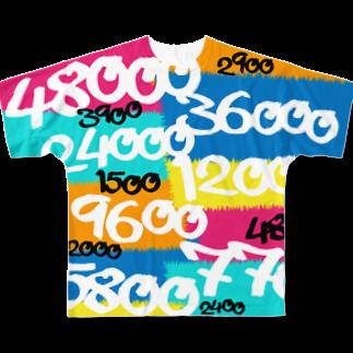 wlmのPOINTS OYABAN pop Full graphic T-shirts