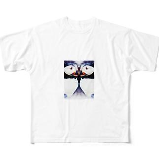 Wパフィン Full graphic T-shirts