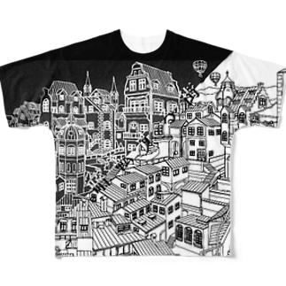 暗転する街 Full graphic T-shirts