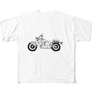 バイク Full graphic T-shirts