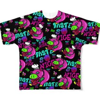 病みYummy PIGGY Full graphic T-shirts