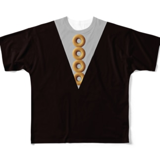ドーナツ型 ネクタイ Full graphic T-shirts
