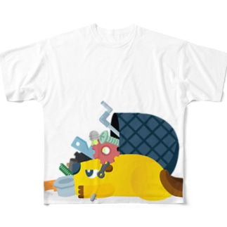 Scrapbox_beaver Full graphic T-shirts