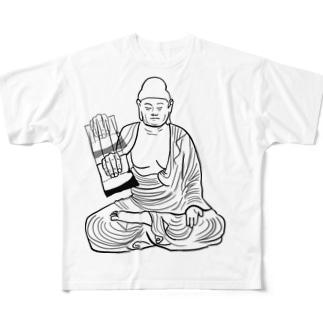シャカ釈迦チキン Full graphic T-shirts