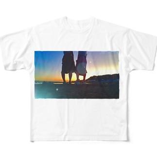 夏はもう来ない Full graphic T-shirts