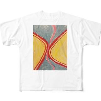うねり Full graphic T-shirts